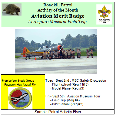 Sample Patrol Activity Flyer