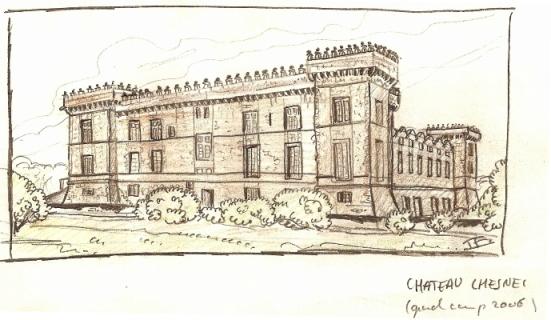 croquis du château Chesnel