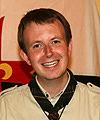 Martin Hafner portant le foulard du Mac-Laren