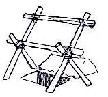 Un modèle de feuillées assis simple