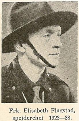 Portræt fra Pigespejderbogen 1945