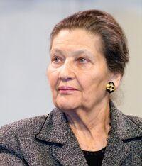 Simone Veil lors d'une réunion publique