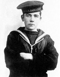 Jack Cornwell en uniforme de marin britannique