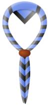 foulard du groupe: bleu ciel à bord noir
