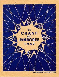 Le chant de jamboree 1947.JPG