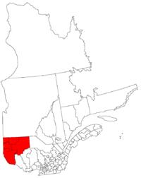 La région de l'Abitibi-Témiscamingue dans la province de Québec