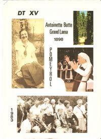 Couverture DT XV Antoinette Butte