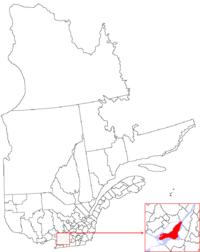 La région de Montréal dans la province de Québec