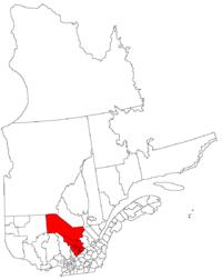 La région de la Mauricie dans la province de Québec