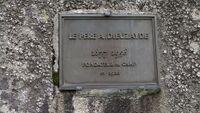 Barèges - Camp Rollot - plaque commémorative à Antoine Dieuzayde