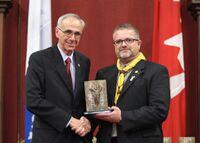 Sylvain Thibault récompensé le 15 octobre 2010 du prix Dollard-Morin