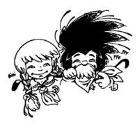 Logo de Branche avec les personnages Canaille et Loustic