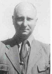 Raymond Gafner du temps de son commandement