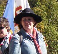 Marie-Hélène Morel lors de la route SGDF de 2011