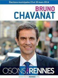 Affiche de candidature pour la mairie de Rennes