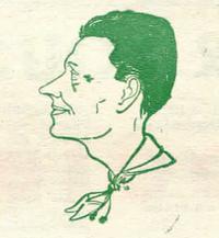 Caricature de Kangourou parue dans un Sois Prêt (1951)