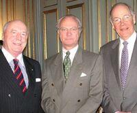 Howard Kilroy avec Carl Gustav XVI