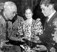Gabriel Daza, à droite de la photo