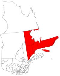La région de la Côte-Nord dans la province de Québec
