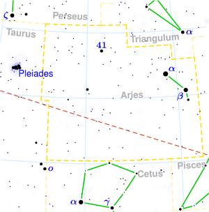 Karte Sternbild Widder
