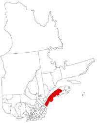 La région du Bas Saint-Laurent dans la province de Québec
