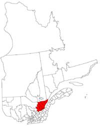 La région de la Capitale Nationale dans la province de Québec