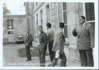 Robert Bajard (à droite) à Jambville avec Jean Muller (au centre) et Paul Rendu (à gauche)