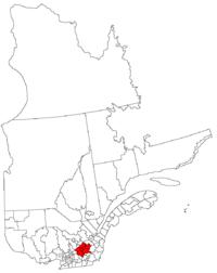 La région du Centre du Québec dans la province de Québec