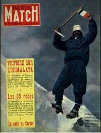 Couverture du magazine Paris Match relatant la première ascension de l'Annapurna