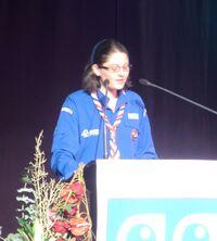 Anne-Claire Huet, lors de l'assemblée générale des SGDF en 2012