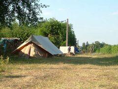 une tente en camp