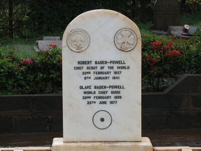 Baden Powell's and Olave's grave