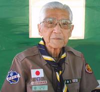 Shintarō Negishi au 4e sous-camp japonais au 13e Jamboree (2002)