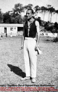 Paul Breittmayer à l'île d'Oléron en 1924