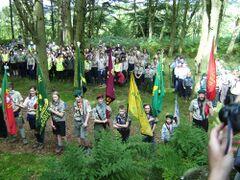 Commémoration des cent ans du camp de Humshaugh en 2008