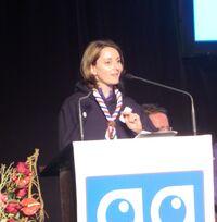 Emmanuelle Audras, à l'assemblée générale des SGDF en 2012
