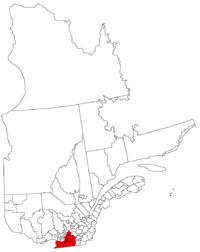La région de la Montérégie dans la province de Québec