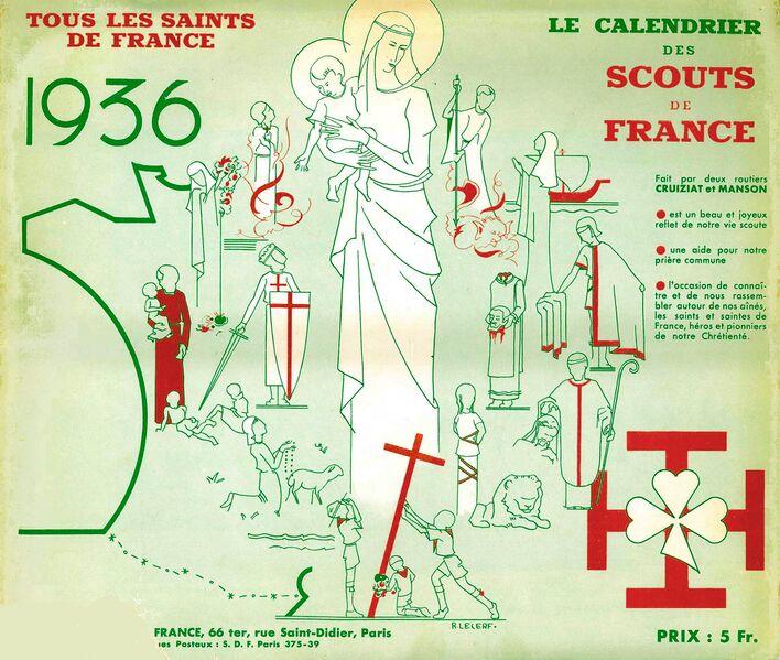 Fichier:Calendrier SDF 1936.jpg
