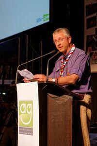 David Crepy lors de l'AG 2013 des SGDF(c) Jean-Pierre Pouteau