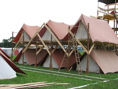 Tent plateform during Contura (Switzerland)