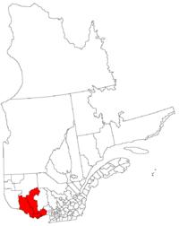 La région de l'Outaouais dans la province de Québec