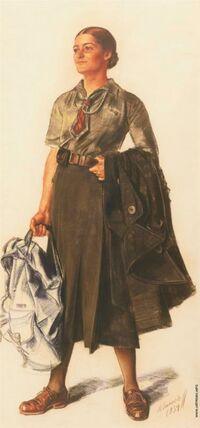 Anita Lopez-Ross, portrait par Alexandre Jacovleff en 1934