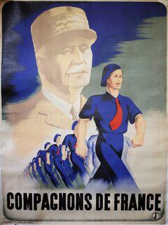 Affiche du mouvement, avec le maréchal Pétain