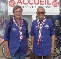 Marie-Hélène Verschelde avec Yves Zacchi à l'entrée de You're Up! le dimanche 19 juillet 2015