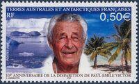 Timbre édité à l'occasion du 10e anniversaire de la disparition de Paul-Emile Victor
