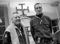 René Richard et Thomas Demongeot, pour la préparation du centenaire du scoutisme