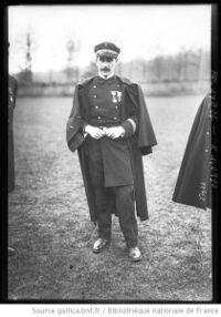 Le lieutenant Hébert en 1913