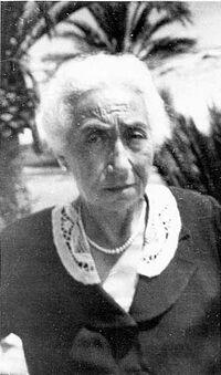 Alice Halphen à Nice en 1943