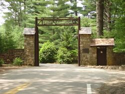 The Entrance Gate to Camp Yawgoog